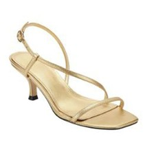 Marc Fisher Women's Gove Strappy Heeled Sandals, Gold Leather, 7 - $54.44
