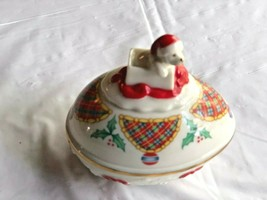 Vintage Lenox Christmas Surprise Trinket Box Ltd Ed 1994 Gold Mark - $9.99