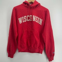 Champion Hoodie Men's Size S Red Wisconsin Badgers NCAA Pullover Sweatshirt - $18.46