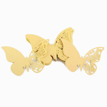 50pcs Mariposa precisa Láser Cortado Papel Nombre Tarjeta De Lugar Para ... - $13.50 CAD