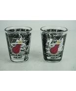 Pair of Miami Heat NBA Shot Glasses - $14.93