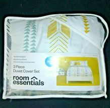3 Piece Room Essentials Arrow Print KING Duvet Cover Bed Set -2 Shams + 1 Cover image 3