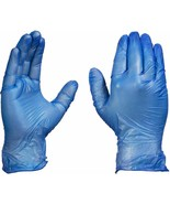 Industrial Blue Vinyl Gloves [Latex+Powder Free] Disposable Box of 100 - £13.80 GBP