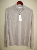 Calvin Klein Linen Sweater men's S Long Sleeve 1/2 zip Solid $88 - $27.79