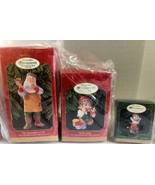 1999 HALLMARK COLLECTOR'S CLUB MEMBERSHIP KIT SET OF 3 ORNAMENTS! NEW IN... - $9.89