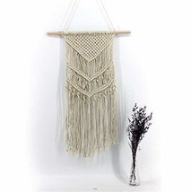 E Support Macrame Wall Hanging Woven Tapestry Boho Home Decor Handmade W... - $18.80