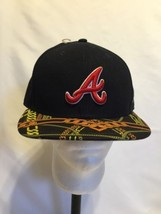 Atlanta Braves Fitted Cap Hat New Era 59fifty Visor Real Chains Size 8 R... - $18.82