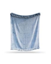 Aqua Blue Color Sofa Throw, Handloom Chic Blanket, Cotton Handmade Throw... - €53,47 EUR