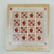 "Heidi Satterburg ""Apple Quilt"" Stamps Happen Rubber Stamp Large Religiou... - $12.95"
