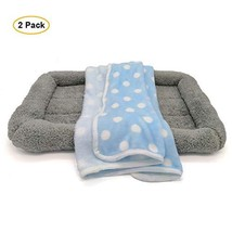 LKEX Cat Bed and Fluffy Fleece Small Dog Blanket, 2 Pack, Soft and Warm,... - $21.65