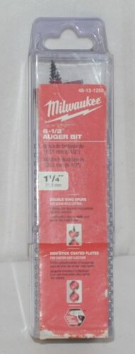 Milwaukee 48131250 Auger Bit 6 One Half Inch Brand New In Package