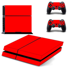 Red Vinyl Skin Sticker Cover for Sony PS4 PlayStation 4 Console and 2 co... - $19.00