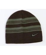 Nike Boys Swoosh Brown Beanie Skull Cap Youth Size Boys 8-20 NWT - $14.84