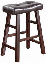 "24"" Counter Stool Furniture Bar Dark Cherry Solid Wood Seat Pad New Set ... - £62.09 GBP"