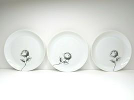 3 Espana Rosa BLOCK BIDOSA Spain Rose Plates White Salad Serving Dinner Plate - $37.49