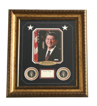RONALD REAGAN SIGNED CUT FRAMED COLLAGE PRESIDENT USA PHOTO AUTOGRAPH JS... - $2,299.00