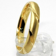 18K YELLOW GOLD BAND BRAIDED RING, BRAID WOVEN, SATIN, MADE IN ITALY image 2