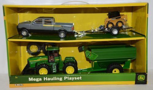 John Deere TBE45368 Mega Hauling Playset Pickup Trailer Skid Steer Tractor Cart