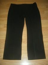 GLORIA VANDERBILT THE PERFECT FIT BLACK STRETCH STRAIGHT LEG PANTS SIZE 18s - $17.41
