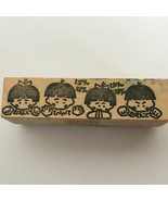 Ark Road Collection Japanese Rubber Stamp Children's Song Faces Expressi... - $5.40