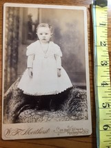 Cabinet Card Cute Young Boy in White Dress NY Studio Artwork 1860-80! - $10.00