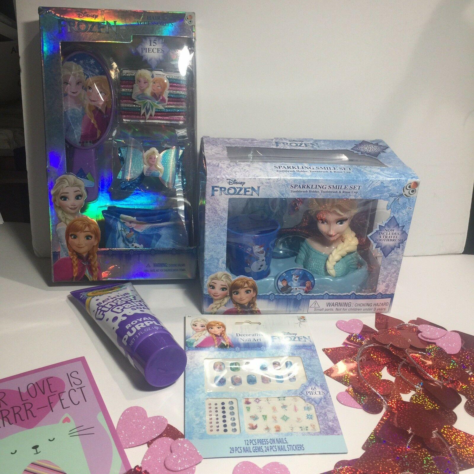 Disney Frozen Girls Beauty Bath Gift Set Birthday Easter Valentine Bundle 4pc