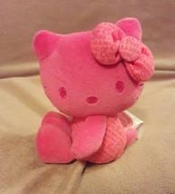 "SANRIO pink 35th Anniversary HELLO KITTY COLORS 4.5"" plush beanbag - $7.69"