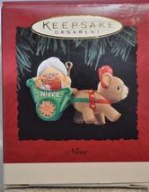Hallmark - Niece - Reindeer Pulling Mrs Claus in Cart - Keepsake Ornament - $7.12
