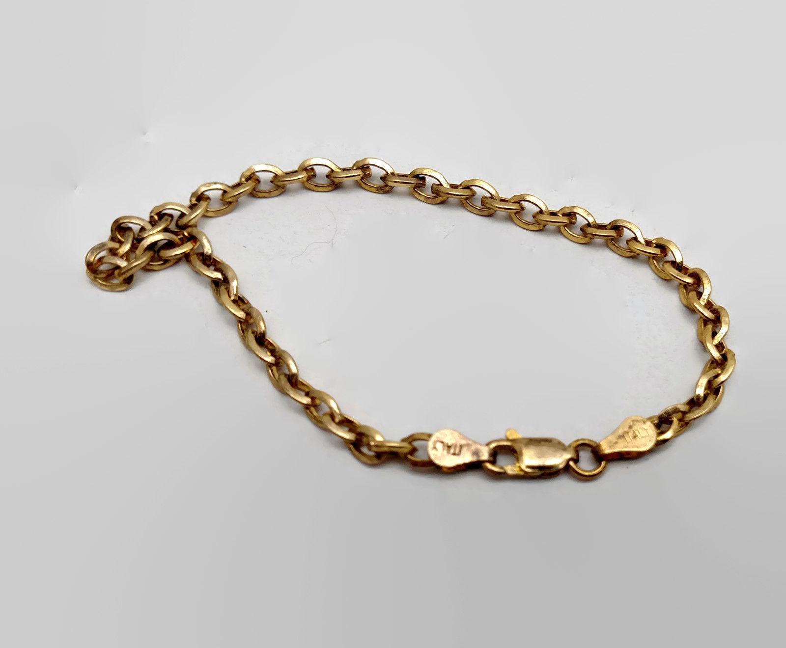 ITAOR Italian Gold Vermeil Sterling Silver Chain Bracelet