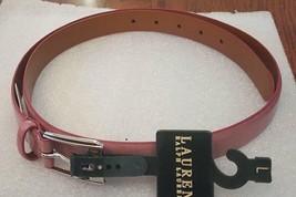Lauren Ralph Lauren Womens Pink Fairfield Patent Saffiano Face Belt Size L - $25.56