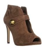 MICHAEL Michael Kors Agnes Studded Cut-Out Pointed Toe Heels, Dark Caram... - $176.63