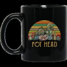 Vintage Succulent Plants Pot Head BM11OZ 11 oz. Black Mug - $17.50
