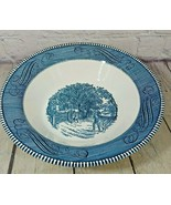 """Vintage 10"""" Currier and Ives Royal China Blue 10"""" Serving Bowl Home Swee... - $24.74"""