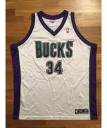 Authentic 2002 Reebok Milwaukee Bucks Ray Allen Home White Jersey 56 - $309.99