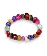 7 Chakra Healing Crystals Natural Stone Chips Bracelet - $20.00