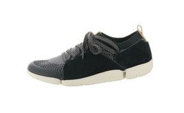 Clarks Trigenic Leather Mesh Sneakers Tri Amelia Black 8.5M NEW A346793 - $108.88