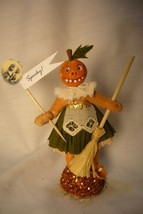 Vintage Inspired Spun Cotton Pumpkin Girl  Halloween image 1