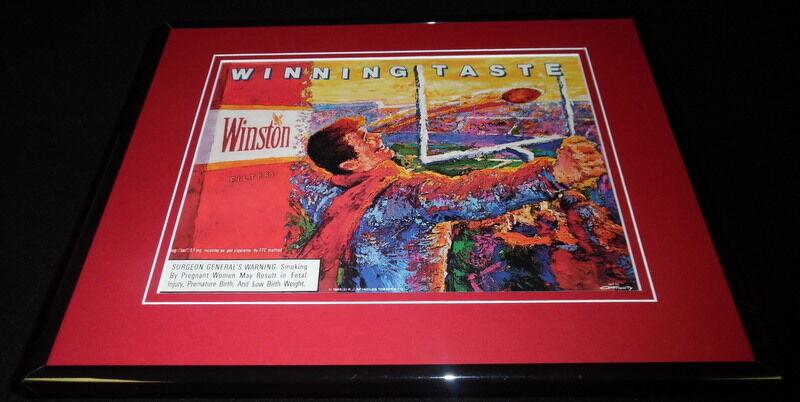 Primary image for 1989 Winston Cigarettes / Football Framed 11x14 ORIGINAL Advertisement