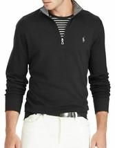 Polo Ralph Lauren Men's Jersey Quarter-Zip Pullover Black-Size Large - $63.99