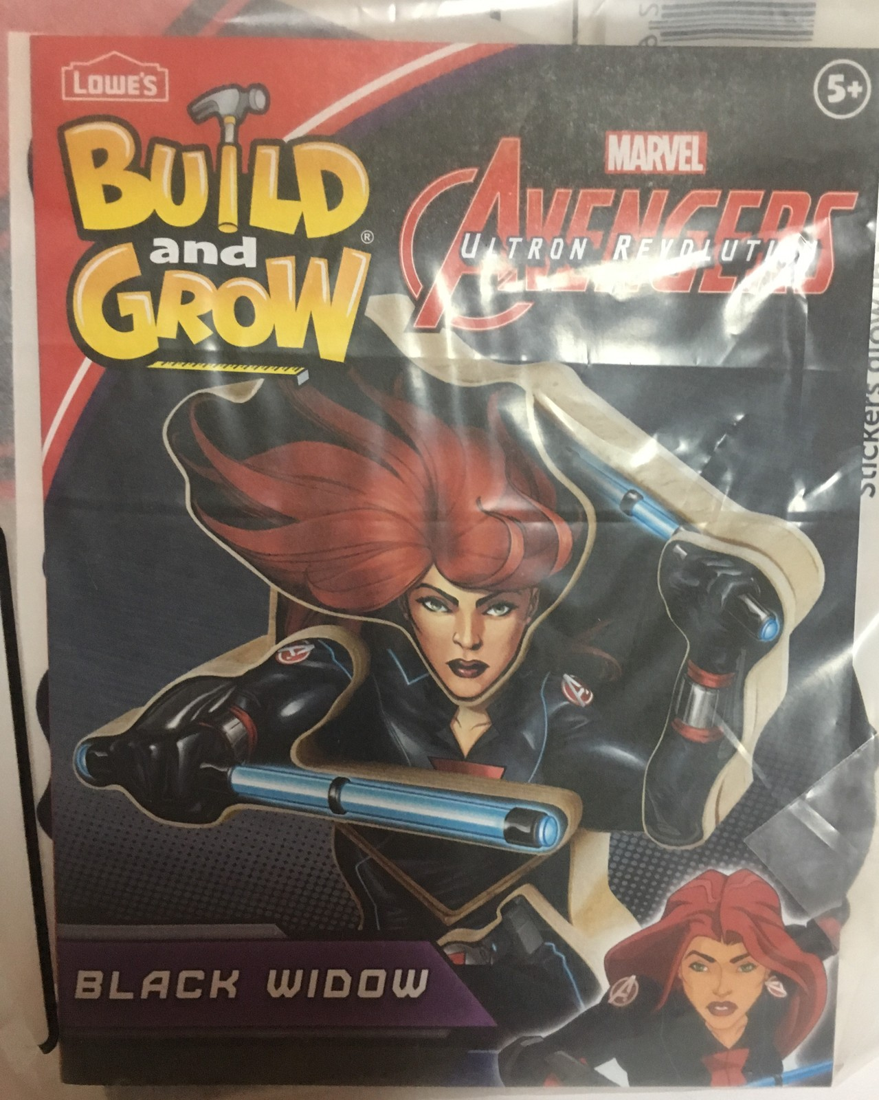 Lowe's Avengers Build & Grow Black Widow Ages 5+ Wood Toys