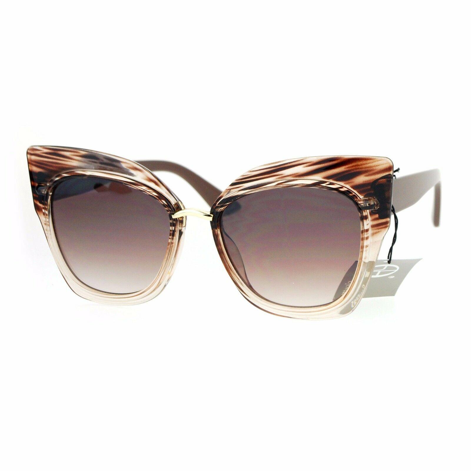 Oversized Fashion Sunglasses Womens Square Cateye Butterfly UV 400 image 2