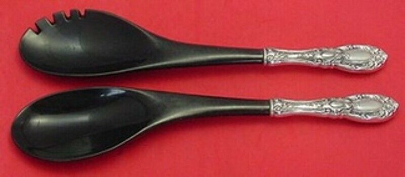 Primary image for King Richard by Towle Sterling Silver Salad Serving Set HH with Ebony 11 3/4""