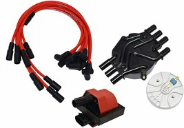 96-07 Chevy GM Vortec 4.3L 262 Distributor Tune Up Kit, & 8.0mm Spark Plug Wires