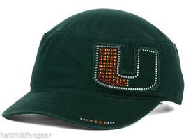 Miami Hurricanes TOW Women's Castro Cadet NCAA Gleam Military Cap Hat - $18.99