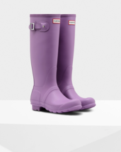 Hunter Women's Original Tall Rain Boot Rubber 7M Thistle Purple - $118.80