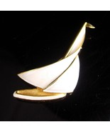 Vintage Trifari Brooch - Couture Jewelry - Nautical sailboat - Sailor Fi... - $125.00