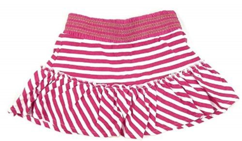 Size 5 Girl's Skirt U.S. Polo Assn. Striped Pink and White with Hidden Shorts