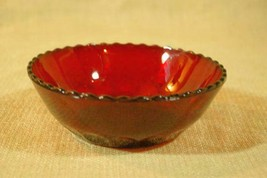 Anchor Hocking Royal Ruby Fruit Bowl - $7.19