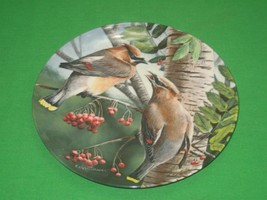 The Cedar Waxwing Collector Plate Signed 1987Knowles Kevin Daniel Plate ... - $12.82