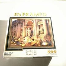 "500 PC  PUZZLE WITH FRAME Trevi Foutain, Rome Italy 22"" x 17"" - $19.79"